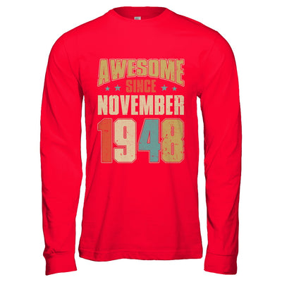 Vintage Retro Awesome Since November 1948 72th Birthday T-Shirt & Hoodie | Teecentury.com