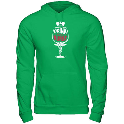 Irish Safety First Drink With A Nurse T-Shirt & Hoodie | Teecentury.com
