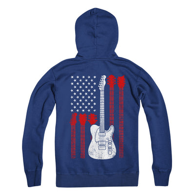 Guitar American Us Flag Music Player T-Shirt & Hoodie | Teecentury.com