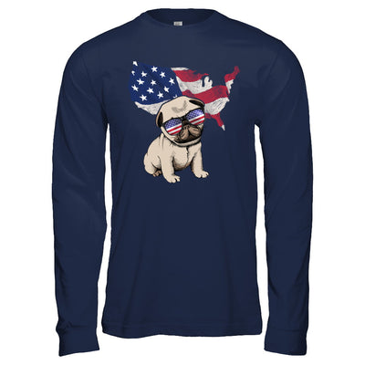 Funny Patriot Pug Dog 4Th Of July American Flag T-Shirt & Hoodie | Teecentury.com