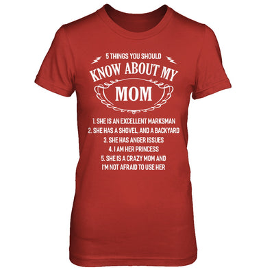 5 Things You Should Know About My Mom Daughter T-Shirt & Sweatshirt | Teecentury.com