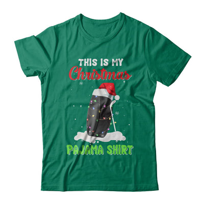 This Is My Christmas Pajama Xmas Hockey Santa T-Shirt & Sweatshirt | Teecentury.com