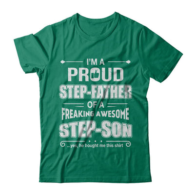I'm A Proud Step-Father Of Awesome Step-Son Fathers Day T-Shirt & Hoodie | Teecentury.com