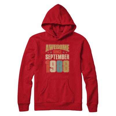 Vintage Retro Awesome Since September 1988 32th Birthday T-Shirt & Hoodie | Teecentury.com