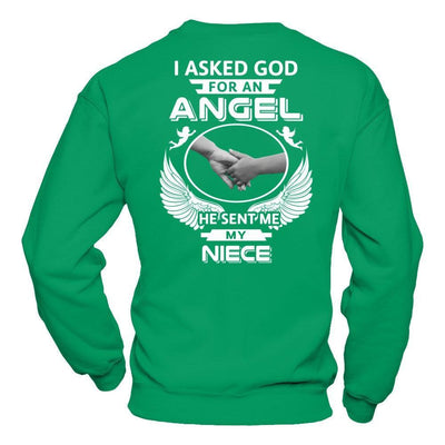 I Asked God For An Angel He Sent Me My Niece T-Shirt & Hoodie | Teecentury.com