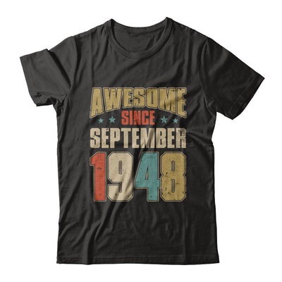 Vintage Retro Awesome Since September 1948 72th Birthday T-Shirt & Hoodie | Teecentury.com