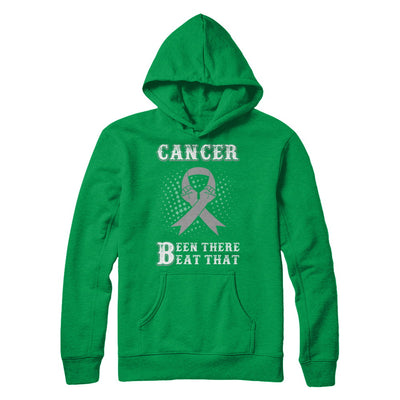 Brain Cancer Been There Beat That Grey Gray Awareness Ribbon T-Shirt & Hoodie | Teecentury.com