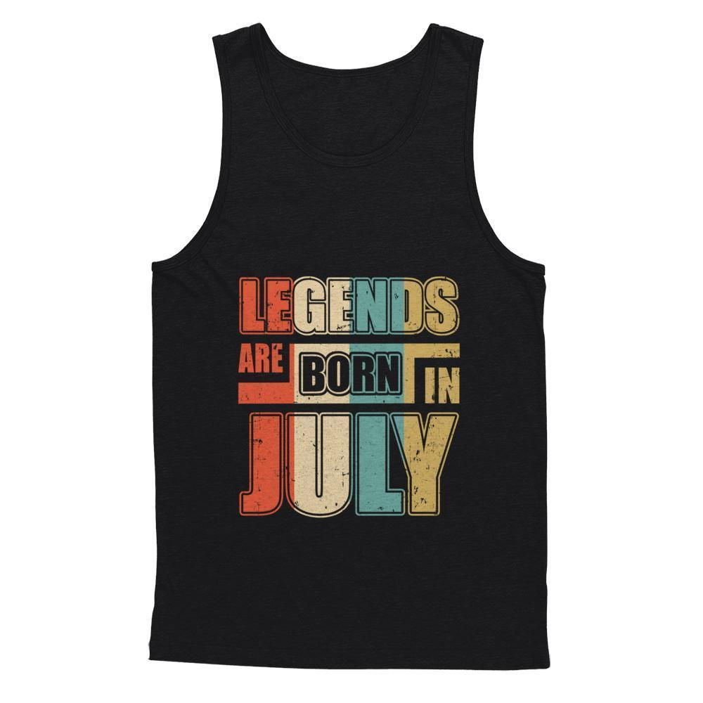 Classic Vintage Legends Are Born In July Birthday Shirt Hoodie