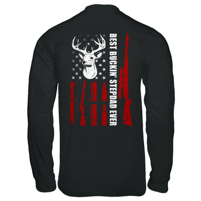 Best Buckin' Stepfather Ever Deer Hunting Stepdad Fathers Day T-Shirt & Hoodie | Teecentury.com