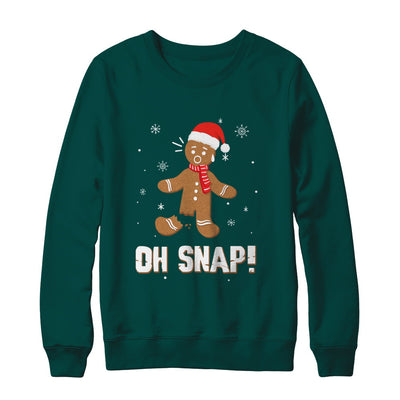 Oh Snap Funny Gingerbread Man Cute Christmas T-Shirt & Sweatshirt | Teecentury.com