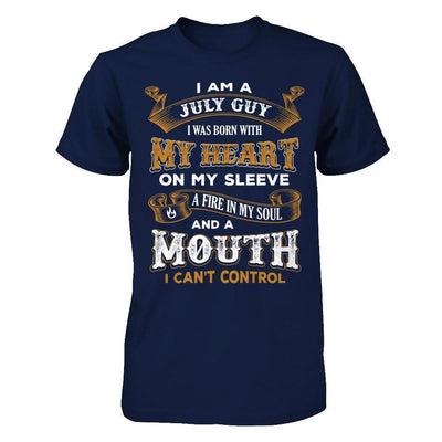 I'm A July Guy I Was Born With My Heart Birthday T-Shirt & Hoodie | Teecentury.com