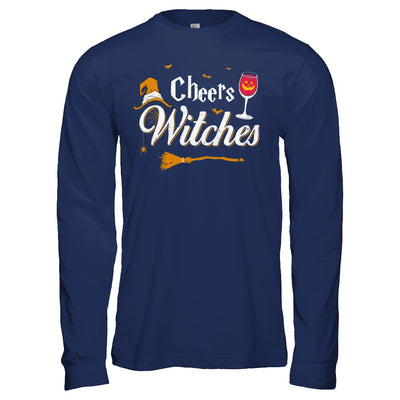 Cheers Witches Happy Hallowine Witch Halloween T-Shirt & Hoodie | Teecentury.com