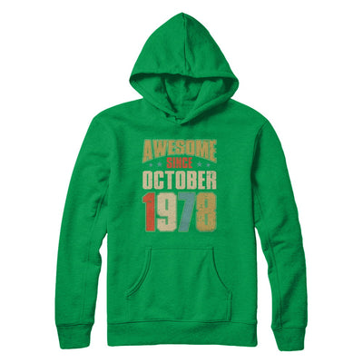 Vintage Retro Awesome Since October 1978 42th Birthday T-Shirt & Hoodie | Teecentury.com