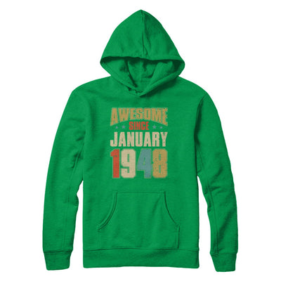 Vintage Retro Awesome Since January 1948 72th Birthday T-Shirt & Hoodie | Teecentury.com