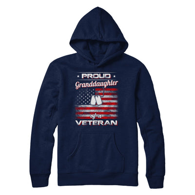 Proud Granddaughter Of A Veteran T-Shirt & Hoodie | Teecentury.com