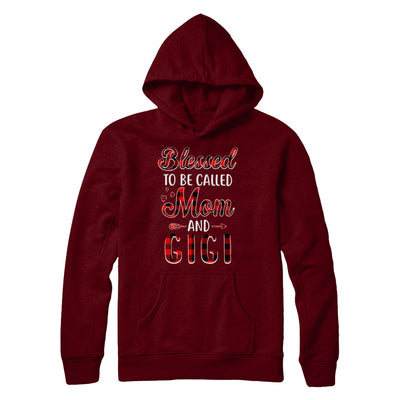 Red Buffalo Plaid Blessed To Be Called Mom And Gigi T-Shirt & Hoodie | Teecentury.com