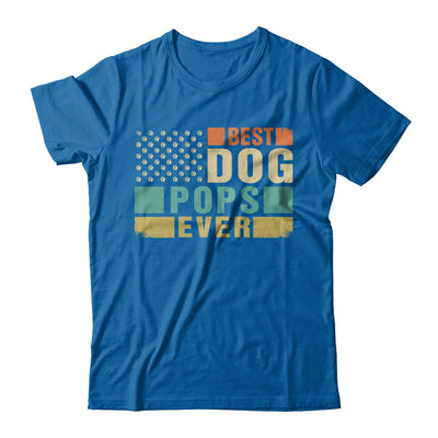 Vintage Retro BEST DOG POPS EVER American Flag Fathers Day T-Shirt & Hoodie | Teecentury.com