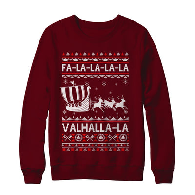 Fa La La Valhalla Viking Ship Ugly Christmas Sweater T-Shirt & Sweatshirt | Teecentury.com