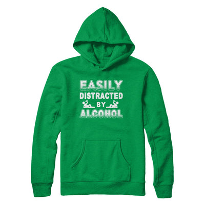 Easily Distracted By Alcohol Wine Beer T-Shirt & Hoodie | Teecentury.com