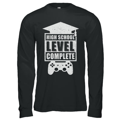 High School Level Complete Graduation Video Gamer T-Shirt & Hoodie | Teecentury.com
