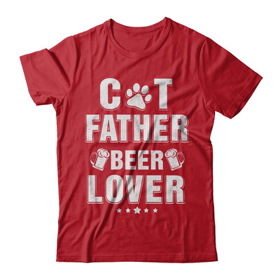 Cat Father Beer Lover Best Cat Dad Fathers Day T-Shirt & Hoodie | Teecentury.com