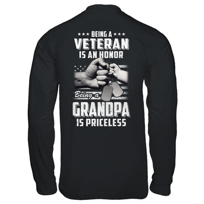 Being A Veteran Is An Honor Being A Grandpa Is Priceless T-Shirt & Hoodie | Teecentury.com