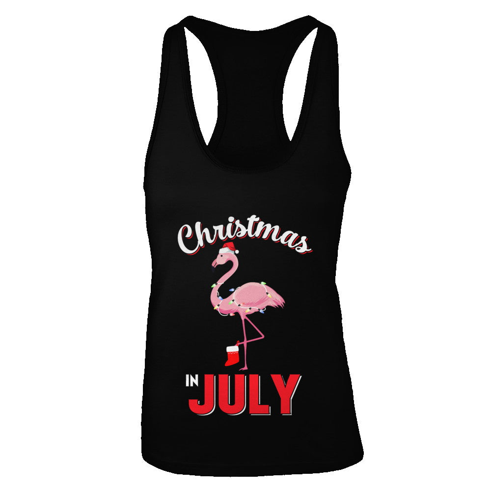 3fc36343169d9 Funny Party X-Mas Flamingo Christmas In July Shirt   Tank Top ...