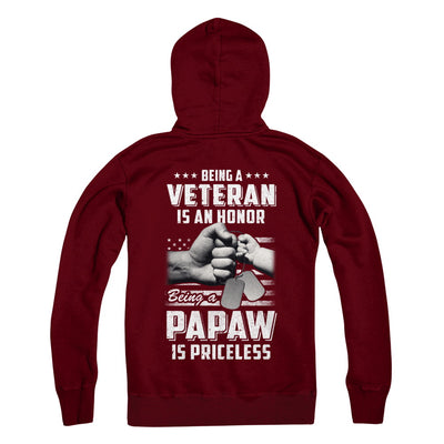 Being A Veteran Is An Honor Being A PaPaw Is Priceless T-Shirt & Hoodie | Teecentury.com