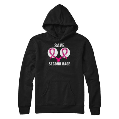 Save The Second Base Breast Cancer Awareness Baseball T-Shirt & Hoodie | Teecentury.com