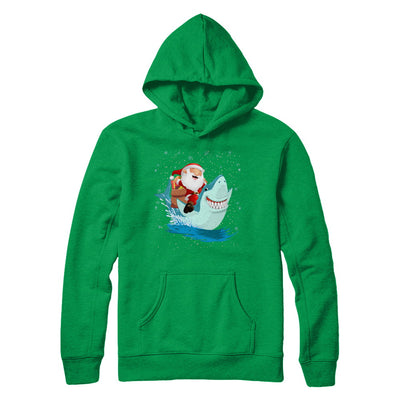 Santa Claus Riding Shark Christmas Xmas Gift T-Shirt & Sweatshirt | Teecentury.com