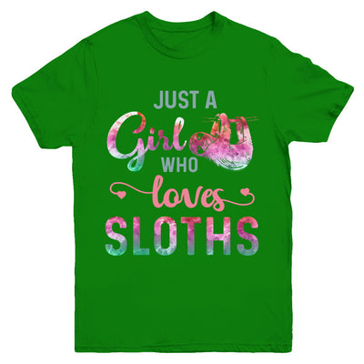 Just A Girl Who Loves Sloths Sloth Lover Youth Youth Shirt | Teecentury.com