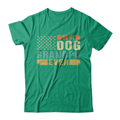 Vintage Retro BEST DOG GRANDPA EVER American Flag Fathers Day T-Shirt & Hoodie | Teecentury.com