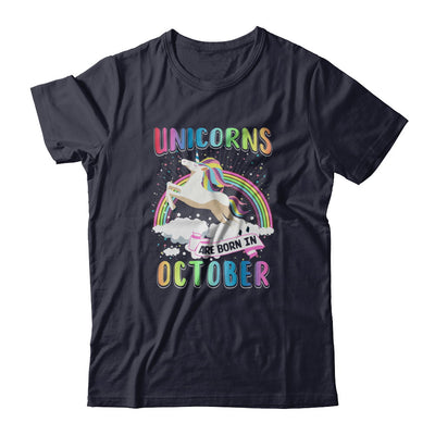 Unicorns Are Born In October Colorful Fun Birthday T-Shirt & Tank Top | Teecentury.com