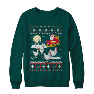 Funny Chicken Ugly Christmas Sweater Gifts T-Shirt & Sweatshirt | Teecentury.com