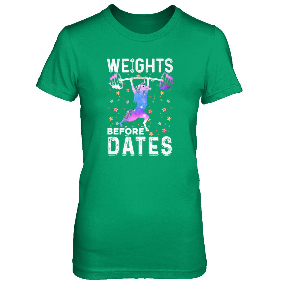 Weights Before Dates Unicorn Gym Weight Lifting Shirt & Tank Top