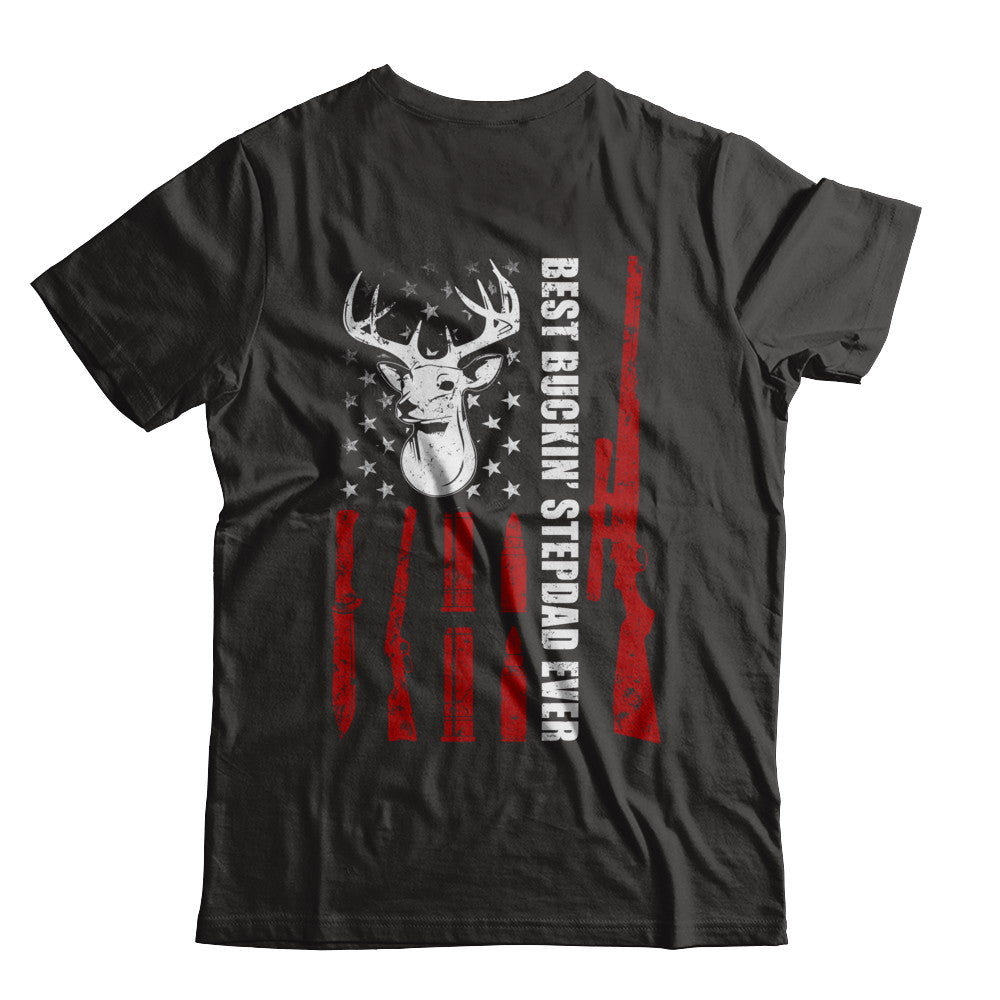 4308c7bd Best Buckin' Stepfather Ever Deer Hunting Stepdad Fathers Day Shirt ...