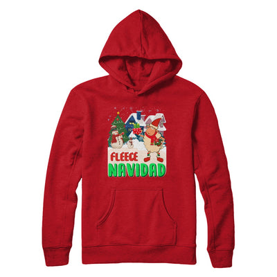 Fleece Navidad Sheep Lamb Christmas Gifts Spanish T-Shirt & Sweatshirt | Teecentury.com