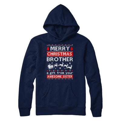 Merry Christmas Brother A Gift From Your Sister Sweater T-Shirt & Sweatshirt | Teecentury.com