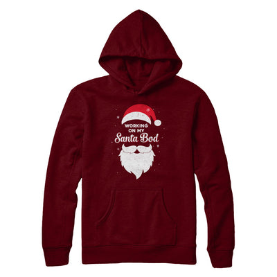 Working On My Santa Bod Pajamas Dad Papa Christmas T-Shirt & Sweatshirt | Teecentury.com
