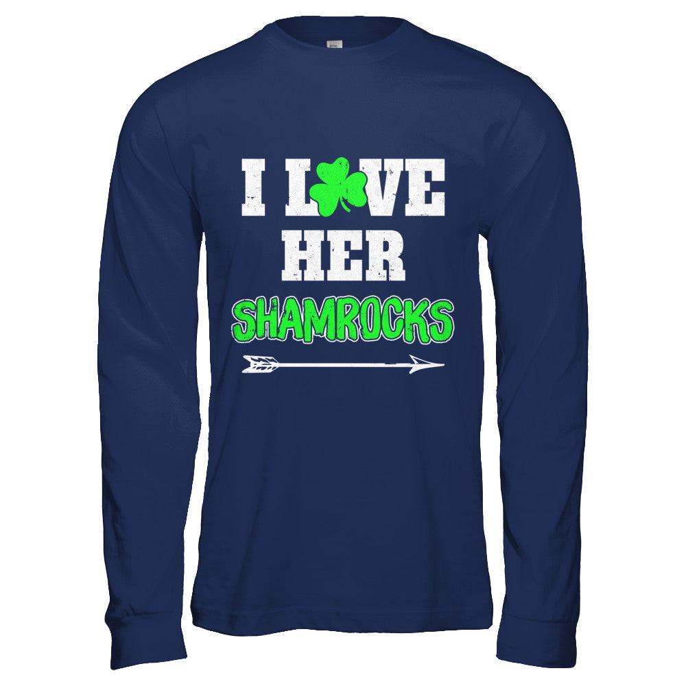 470203fd1 I Love Her Shamrocks Funny Couple St Patricks Day Shirt & Hoodie ...
