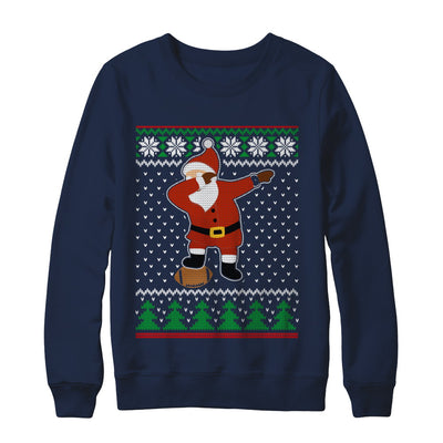 Dabbing Santa Football Ugly Sweater Christmas T-Shirt & Sweatshirt | Teecentury.com