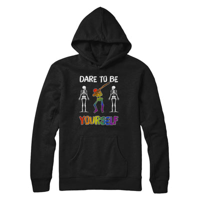 Dare To Be Yourself Funny Lgbt Skeleton T-Shirt & Hoodie | Teecentury.com