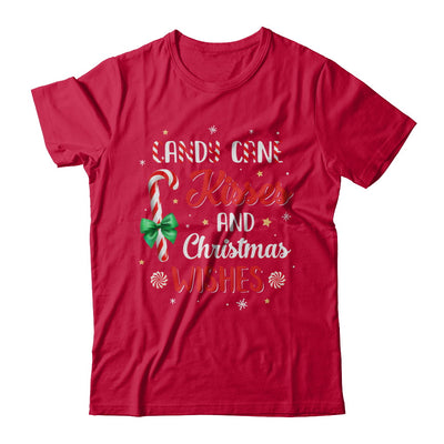Candy Cane Kisses And Christmas Wishes Gifts T-Shirt & Sweatshirt | Teecentury.com