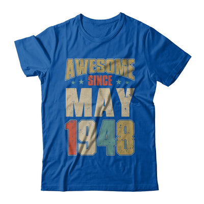 Vintage Retro Awesome Since May 1948 72th Birthday T-Shirt & Hoodie | Teecentury.com