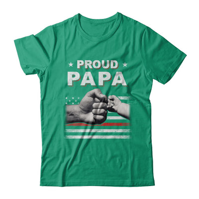 Proud Papa Fireman Firefighter Thin Red Line Flag Fathers Day T-Shirt & Hoodie | Teecentury.com