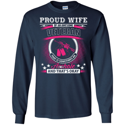 Proud Wife Of An Awesome Veteran T-Shirt & Hoodie | Teecentury.com