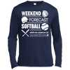 WEEKEND FORECAST SOFTBALL T-Shirt & Hoodie | Teecentury.com