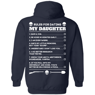 Rules For Dating My Daughter Funny T-Shirt & Hoodie | Teecentury.com