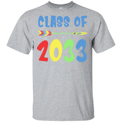 Class Of 2033 Grow With Me Pre-K First Day Of School Youth Youth Shirt | Teecentury.com