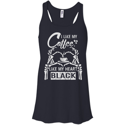 I Like My Coffee Like My Heart Black T-Shirt & Hoodie | Teecentury.com
